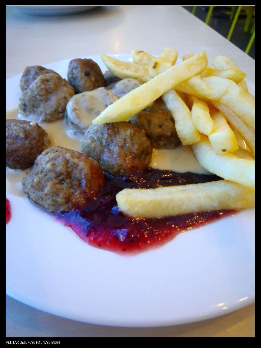 Traditional Swedish meatballs with cream sauce, potatoes and lingonberry sauce.  ($8.95)