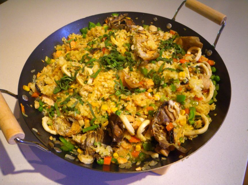 Seafood Paella (Paella de marisco) – A modifiedversion