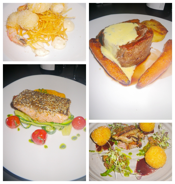 Entrees and mains