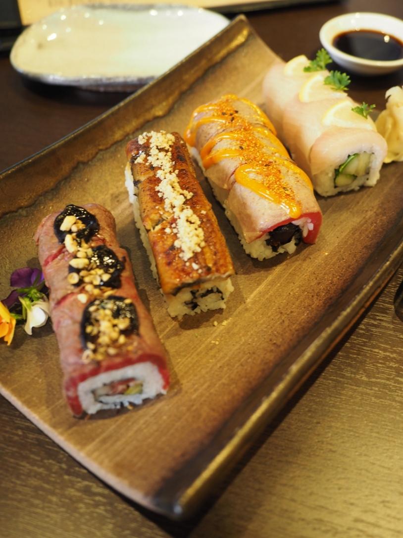 Assorted fusion sushi
