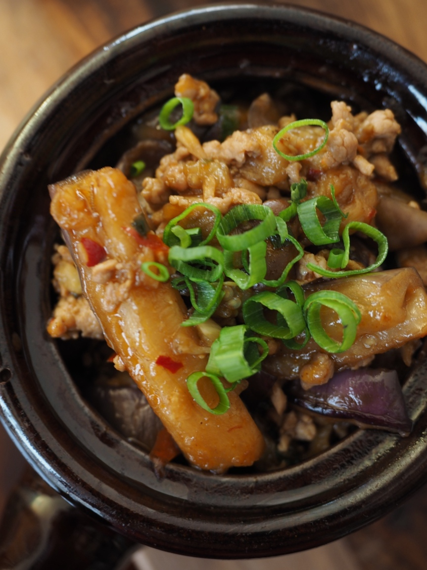 {Recipe} Spicy Aubergine with Murray Valley PorkFillet