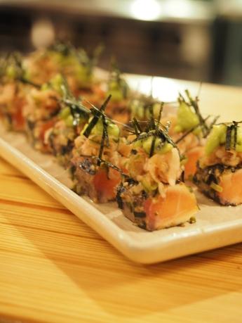 Seared Salmon with Unami Crust