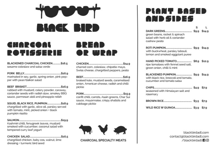 BlackBirdAdl Menu